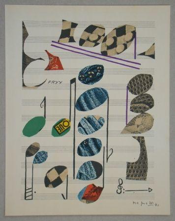 Lithographie Magnelli - Papier collé, 1941