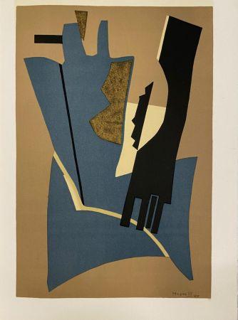 Lithographie Magnelli - Papier collé 1948