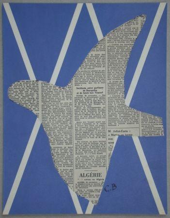 Sérigraphie Braque - Papier collé pour XXe Siècle - 1955