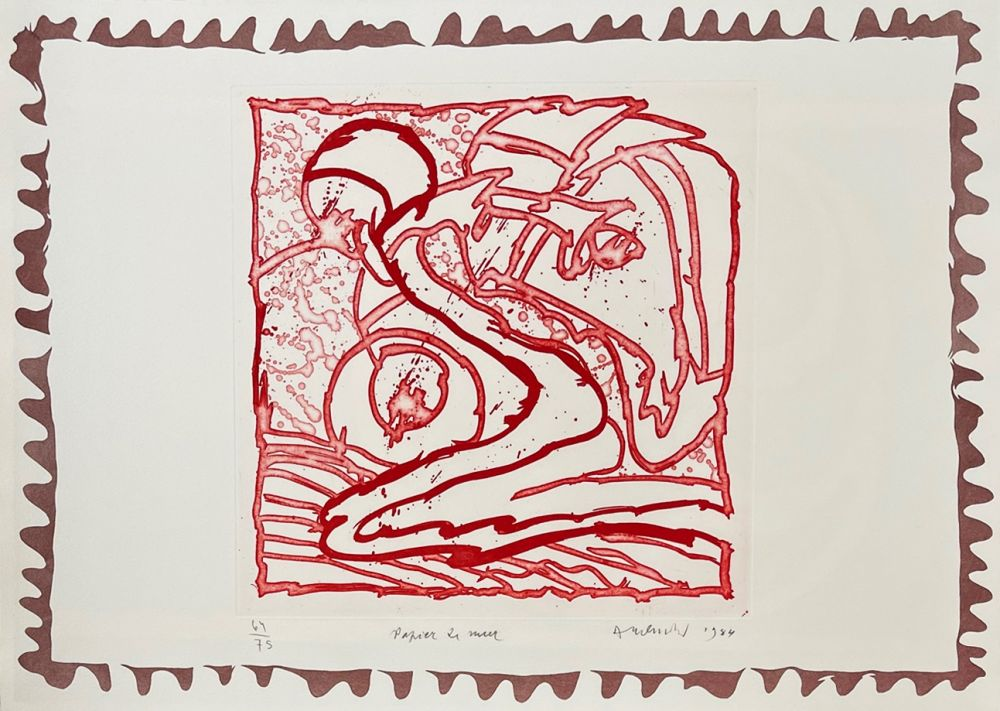 Gravure Alechinsky - Papier de mur