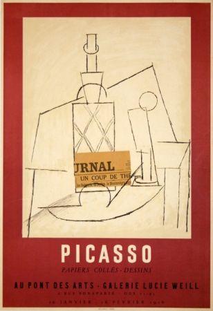 Affiche Picasso - Papiers Collés Exposition Lucie Weill