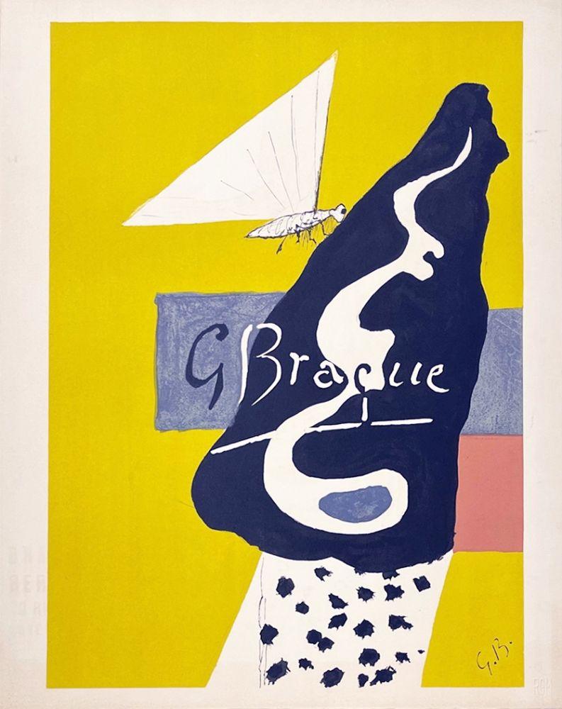 Lithographie Braque - Papillon
