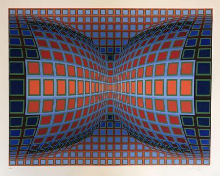 Sérigraphie Vasarely - Papillon