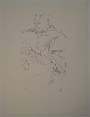 Lithographie Kokoschka - Papst Leo X