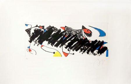 Gravure Miró - Par dessus la haie
