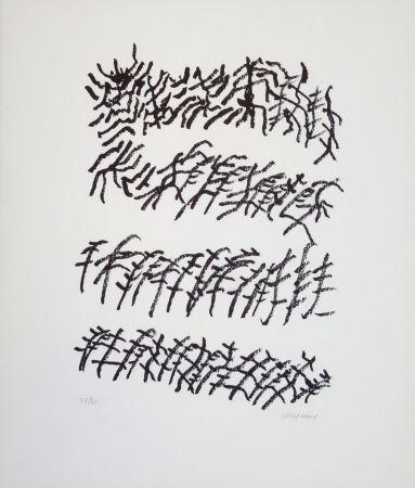Lithographie Michaux - Par la voie des rythmes