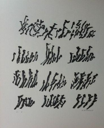 Lithographie Michaux - Par la voie des rythmes 154