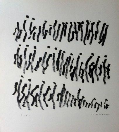 Lithographie Michaux - Par la voie des rythmes 157