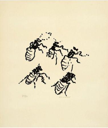 Lithographie Michaux - Par la voie des rythmes, planche X