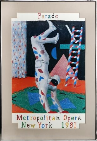 Sérigraphie Hockney - Parade, Metropolitan Opera