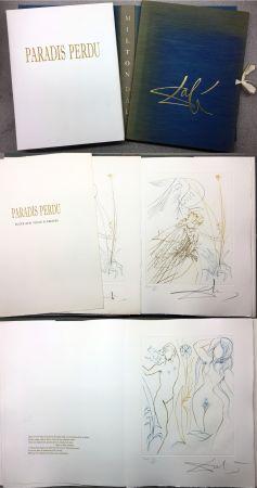Livre Illustré Dali - PARADIS PERDU. (Paradis terrestre : Quatrième chant)