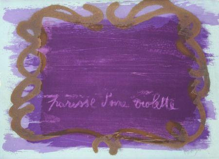Lithographie Messagier - Paresse D'une Violette