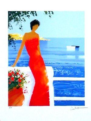 Lithographie Bellet - Parfums de mer