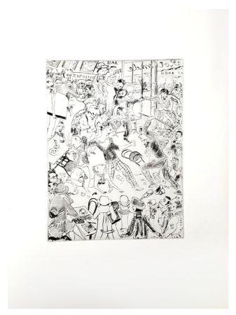 Lithographie Foujita - Paris