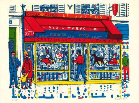Lithographie Boisrond - Paris-ci aussi, Le Tabac