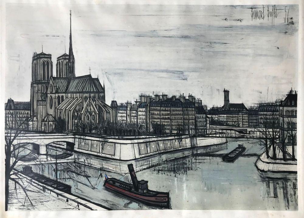 Pochoir Buffet - Paris - Notre-Dame et la Cité