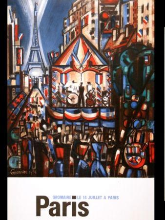 Affiche Gromaire - PARIS 14 JUILLET