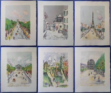 Lithographie Utrillo - Paris Capitale (10 lithographies)