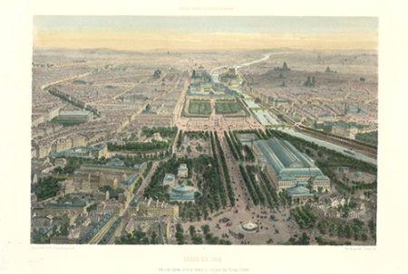 Lithographie Benoist - Paris en 1860