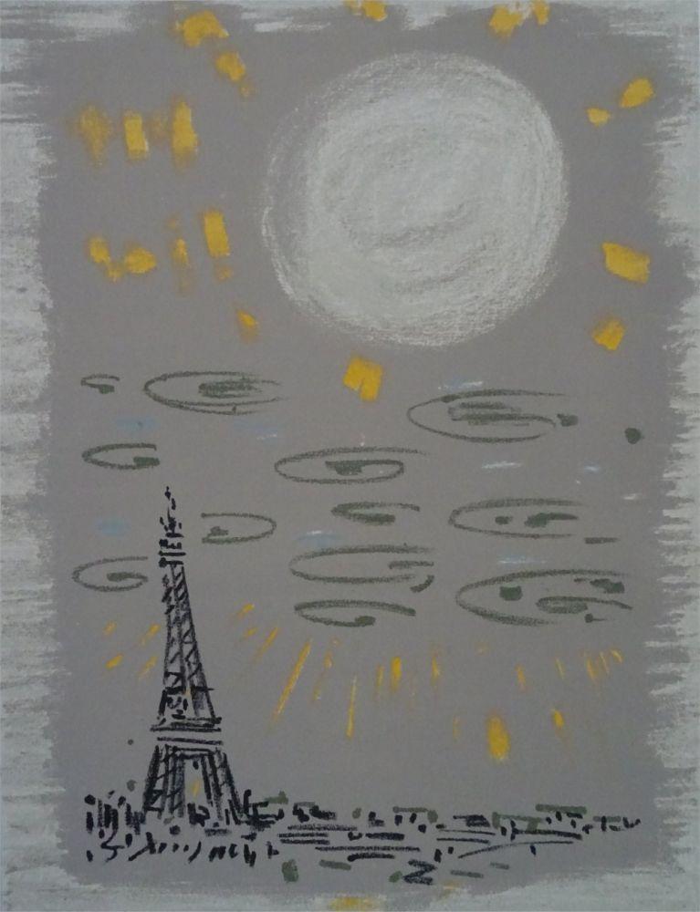 Lithographie Masson - Paris: La Tour Eiffel