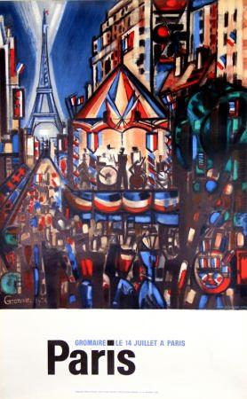 Lithographie Gromaire - Paris le 14 Juillet