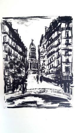 Lithographie Vlaminck - Paris Rue Souflot