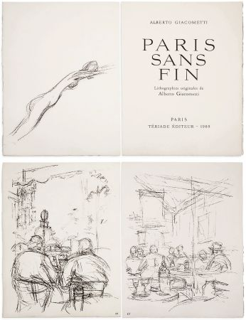 Livre Illustré Giacometti - PARIS SANS FIN. 150 lithographies originales (1969)