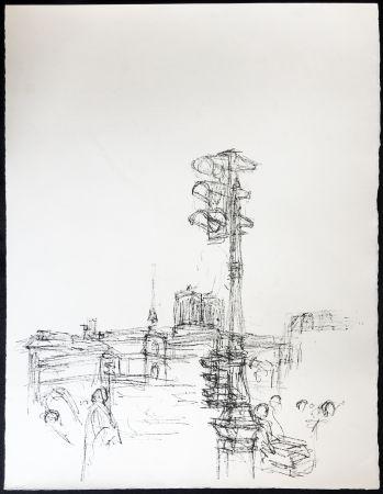 Lithographie Giacometti - Paris Sans Fin. 75ème planche (1961). 1964. Tirage à part.