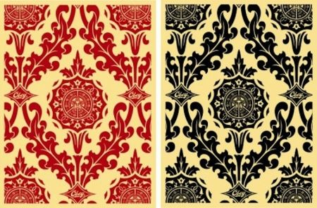 Sérigraphie Fairey - Parlor Pattern Set (Cream and Red & Cream and Black)