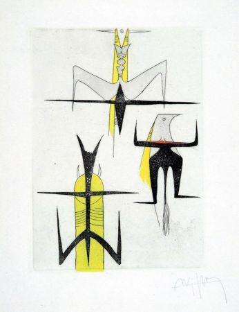 Eau-Forte Et Aquatinte Lam - PAROLES PEINTES (1959) 10 gravures originales de Max Ernst, Jacques Hérold, Wifredo Lam, Sébastian Matta et DorotheaTanning