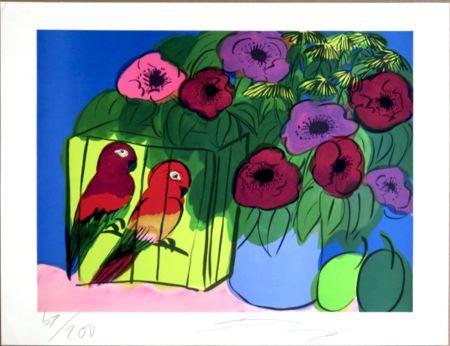 Sérigraphie Ting - Parrots