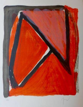 Lithographie Van Velde - Partage du rouge
