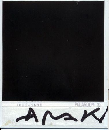 Photographie Araki - Parte trasera de la polaroid