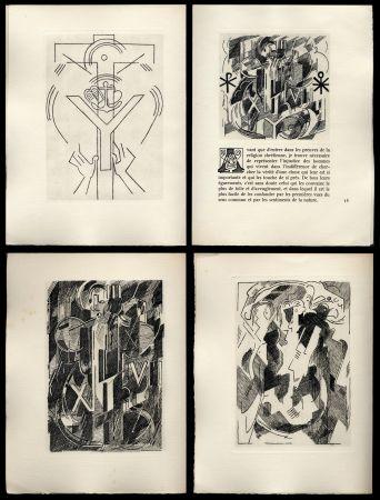 Livre Illustré Gleizes - Pascal: PENSÉES sur l'Homme et Dieu. 57 gravures originales d'Albert Gleizes (1950).