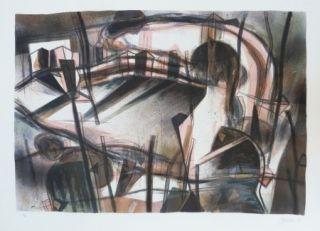 Lithographie Macotela - Paseo interior