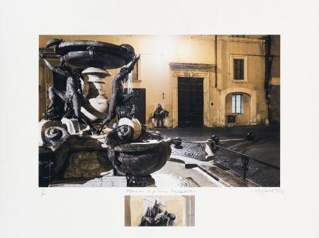Estampe Numérique Pignon-Ernest - Pasolini Si je reviens Piazza Mattei