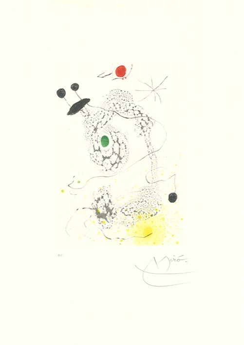 Aquatinte Miró - Passacaille