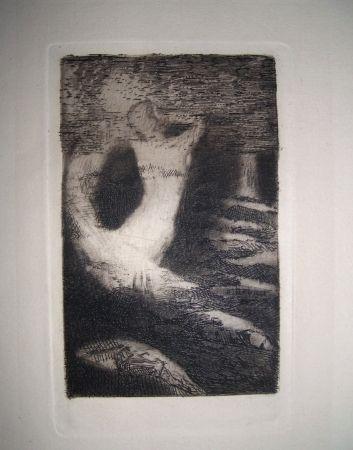 Gravure Redon - Passage d'une âme