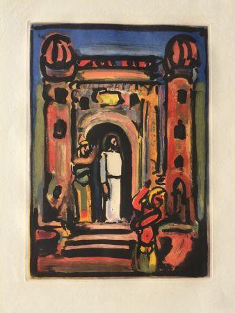 Eau-Forte Et Aquatinte Rouault - Passion Suite: Christ aux Portes de la Ville