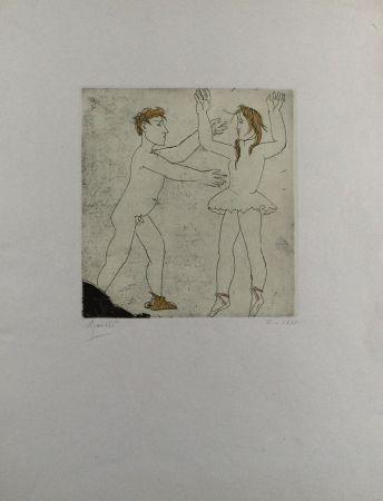 Eau-Forte Et Aquatinte Manzu - Passo di danza I