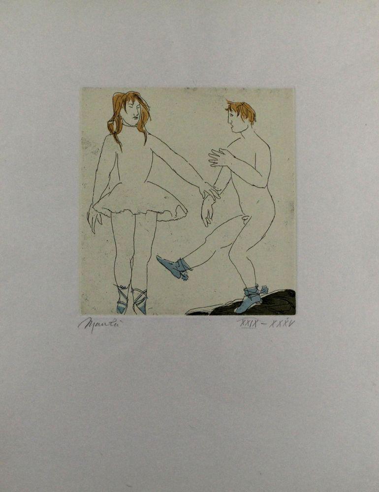Eau-Forte Et Aquatinte Manzu - Passo di danza II