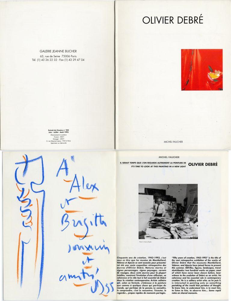 Aucune Technique Debré - Pastel original sur un catalogue d'exposition (1993)