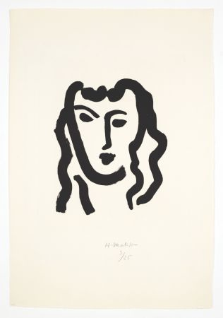 Aquatinte Matisse - Patitcha. Masque