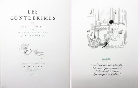 Livre Illustré Laboureur - Paul-Jean Toulet : LES CONTRERIMES. 63 gravures originales (1930)