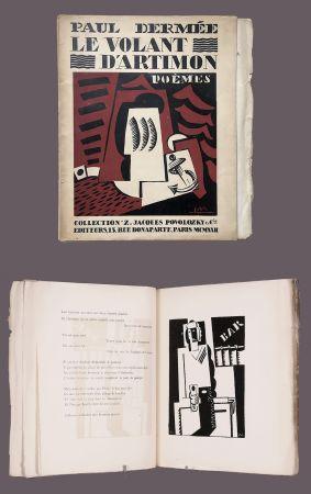 Livre Illustré Marcoussis - Paul Dermée : LE VOLANT D'ARTIMON. POÈMES. 1 des 10 Hollande avec envoi.