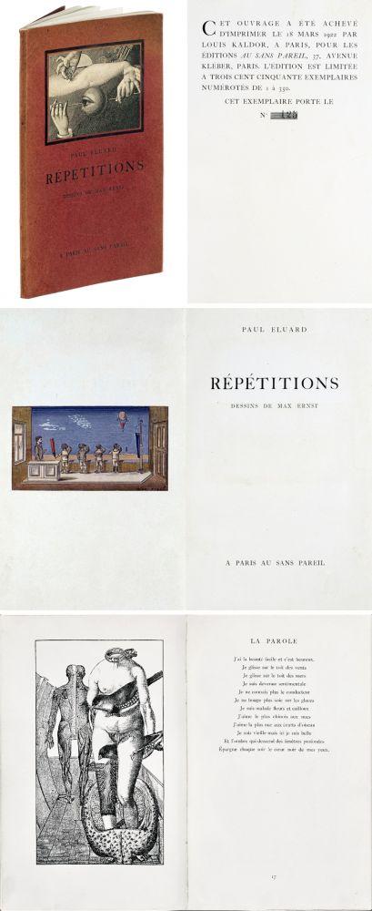 Livre Illustré Ernst - Paul ELUARD : Répétitions. Collages de Max Ernst. 1922.