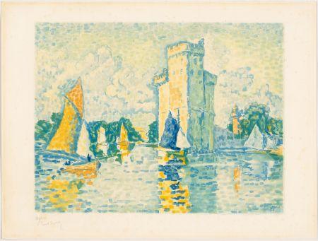 Aquatinte Signac - Paul Signac, Le Port de La Rochelle. 1924. Aquatinte signée.