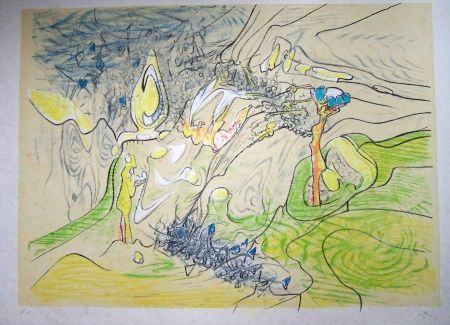 Lithographie Matta - Paysage