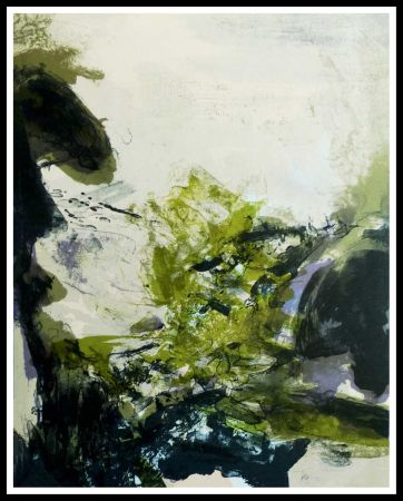 Lithographie Zao - Paysage