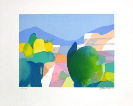Lithographie Defossez - Paysage